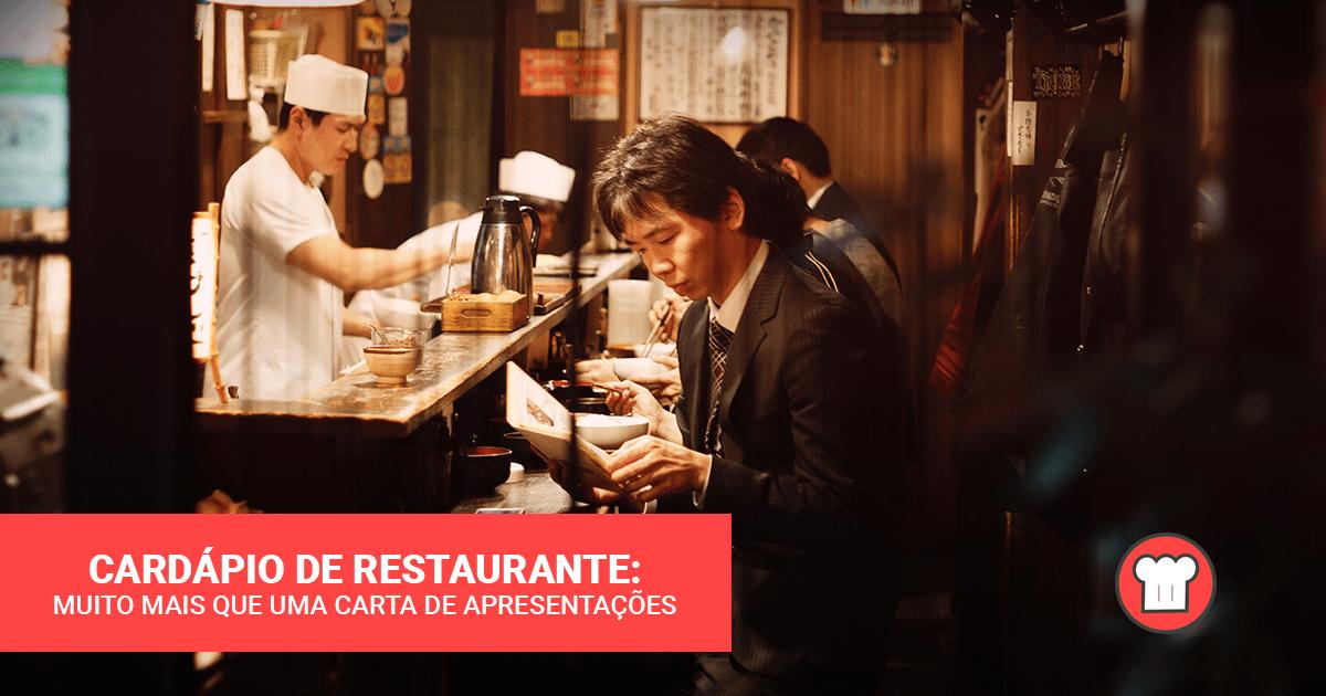 Cardápio de restaurantes