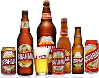 marcas de cerveja. Uma imagem com vários produtos BRAHMA