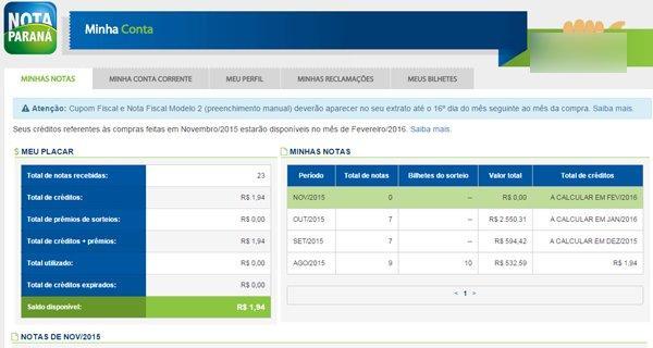 Nota Fiscal Paraná